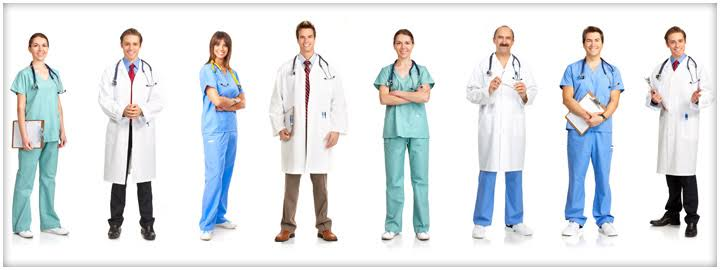 Health practitioners of different fields