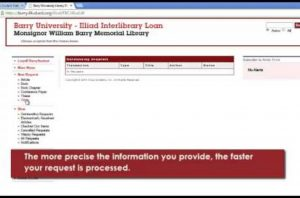 Obtaining a interlibrary loan request