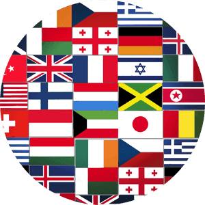 Different flags from countries