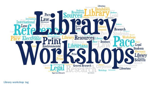 library workshop word cloud
