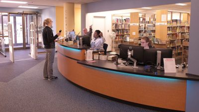 Reference desk at the library