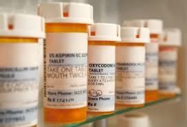 bottles of prescribed medication