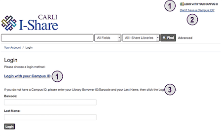 Find all the resources you need from the online catalog of I-Share.