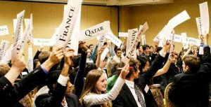 students at Model United Nations