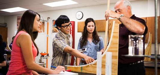 Students studying civil engineering.