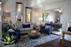 Living room of townhouse