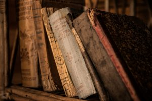 Old, historical library books