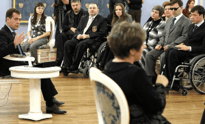persons with disability having a meeting