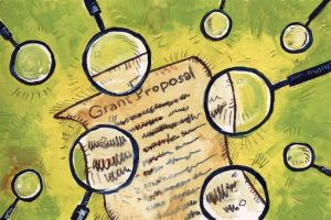 magnifying glasses for a grant proposal