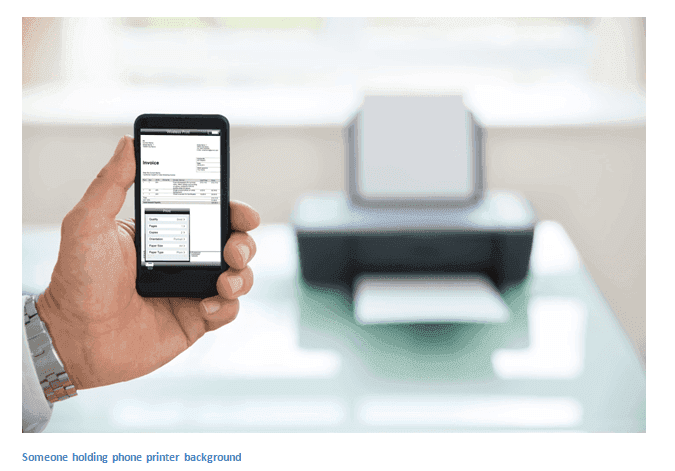 printing a document from phone