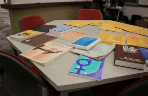 research materials on the table