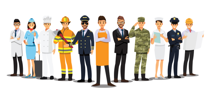 Avatar set of people in various professions