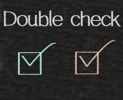 double check mark on chalkboard