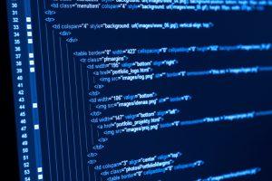 computer displaying basic HTML codes