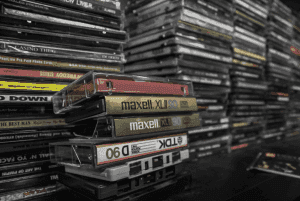 stack of old cds