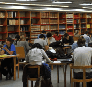 study rooms at the library