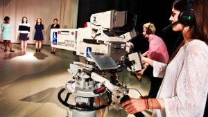 Studio cameras in action
