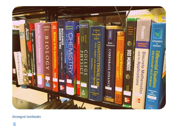 stack of books on shelves