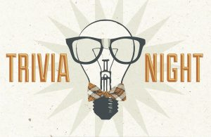 a poster for trivia night