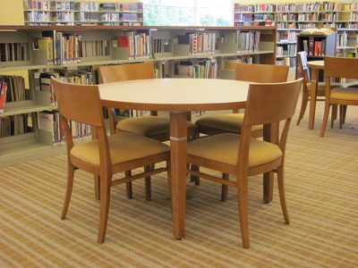 Table spaces at the library