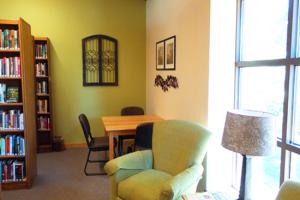 the attractive interior of FJ Robers public library