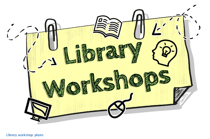 library workshops post it note graphic