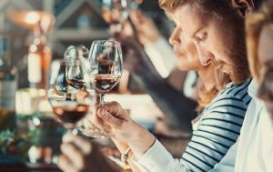students testing wine to understand it