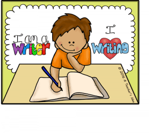 a student writing in a book