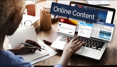 the representative is creating online content for the company
