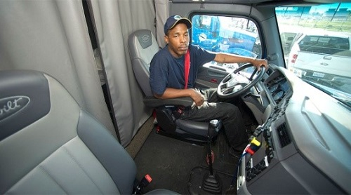 the team member driver is driving the vehicle