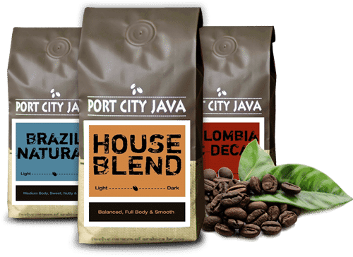 coffee bags of the café