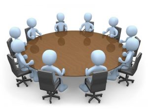 Image of a round table conference