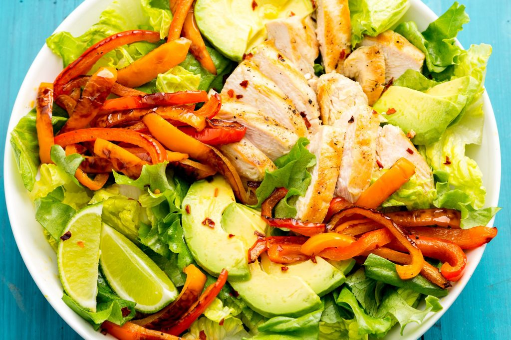 Fresh healthy salad made.