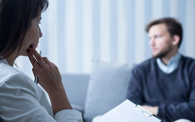 Psychological consultation is taking place between the doctor and patient
