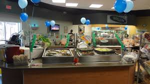 Food counter of the cafe