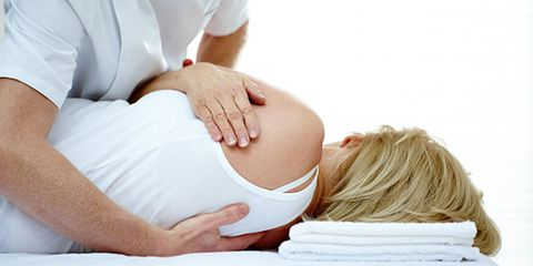 Chiropractic treatment of a girl