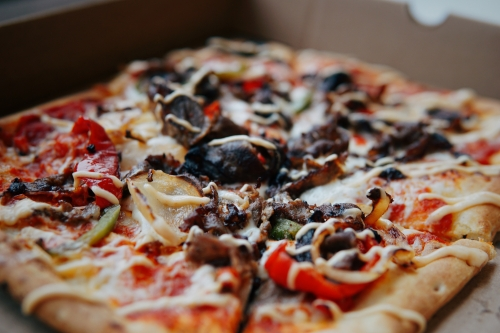 pizza with tasty toppings