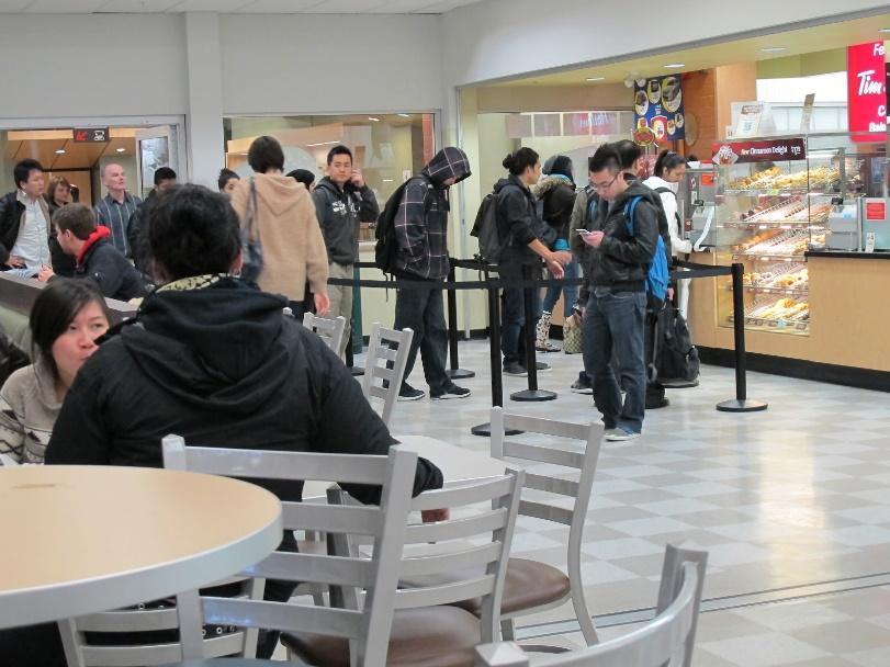 Student sitting area at Langara Café