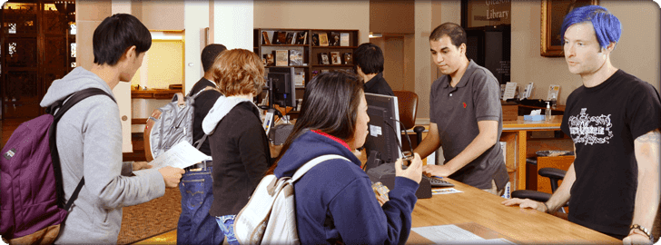 Job opportunities in the library circulation desk