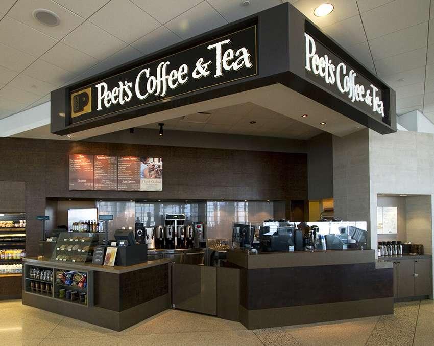 Counter of Peet's Coffee & Tea
