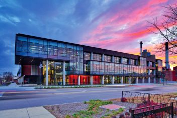 The newly renovated Recreational and Wellness Center at the University of Iowa. It has three levels of full length workout machinery and programs. There is a available swimming pool, track, and multiple basketball/volleyball courts to use. There are also many classes that the University offers to students.