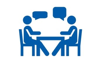 Consultation - person taking the consultancy for stress