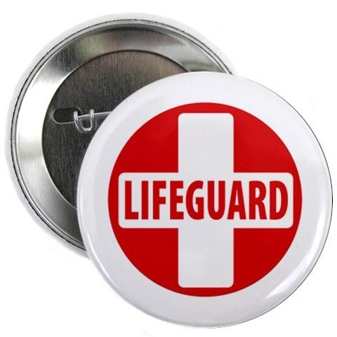 This image shows the pin that Lifeguards can wear on campus!
