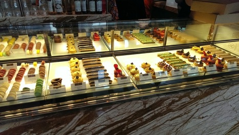 Desserts in the showcase