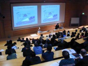 An instructor conducting a seminar