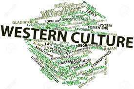 A word cloud of western cultural thought