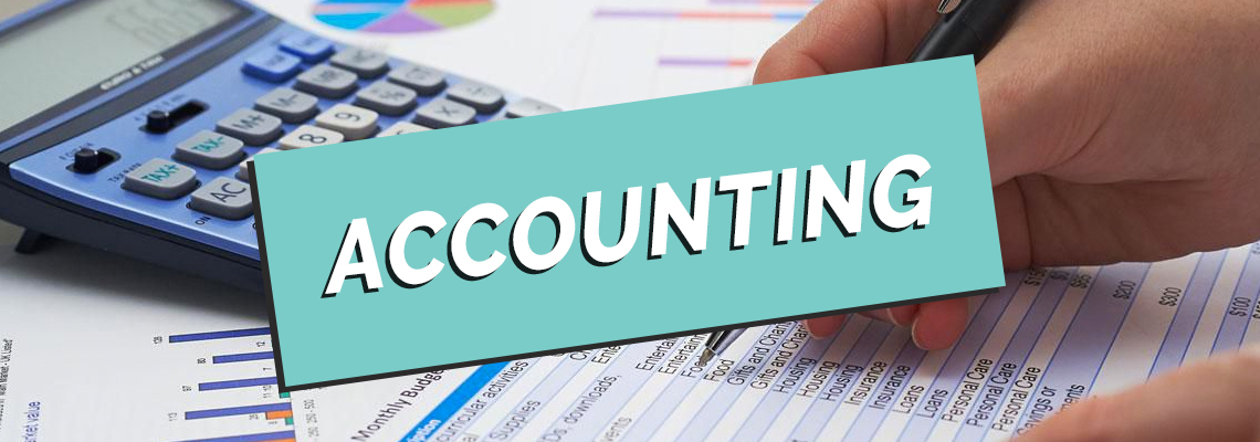 calculator and charts with accounting written on top