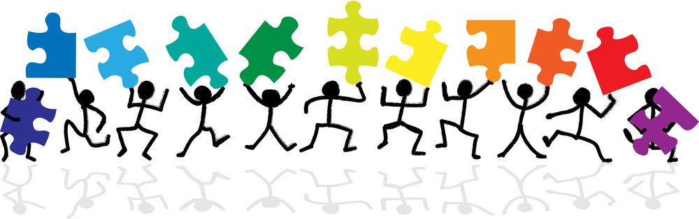 characters lifting parts of a box