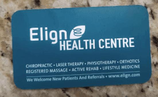 Elign Health Centre Business card