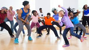 young People dancing and having fun